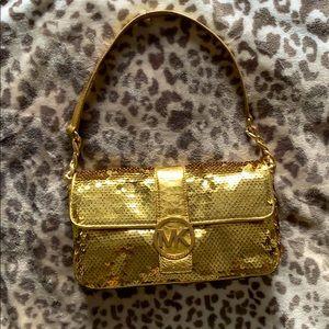 Michael Kors Gold Sequin Shoulder Bag